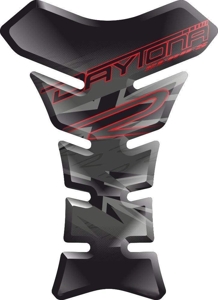 RESINATO EFFETTO 3D compatibile con Triump.h Daytona 675 600 R RX SE v6 PARASERBATOIO ADESIVO TANKSCHUTZ PROTECTION DE RESEVOIR TANKPAD