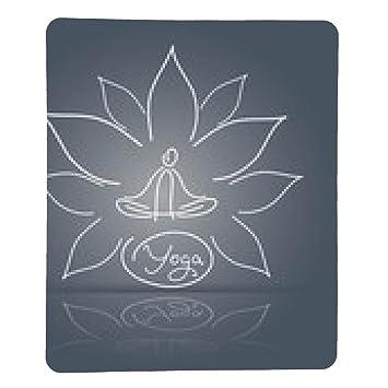 alfombrilla de ratón yoga emblema pose sobre un fondo lineal ...