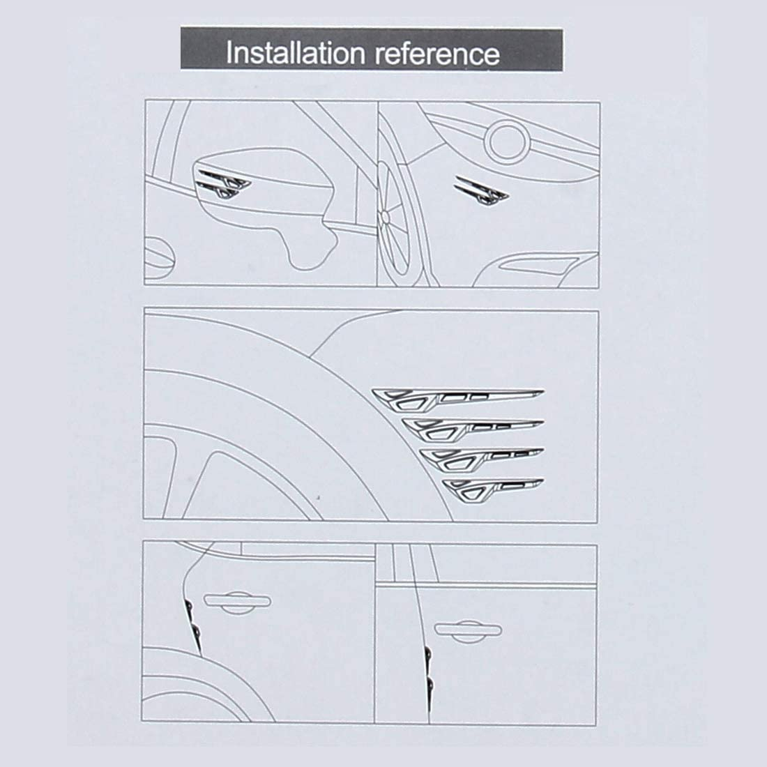 Bbyun Sportello dauto Protezione paraurti 8 PCS Auto Sportello di Veicolo Protezione Laterale Anti Crash Striscia Esterno Evitare Colpi Collsion Impact Protector Sticker
