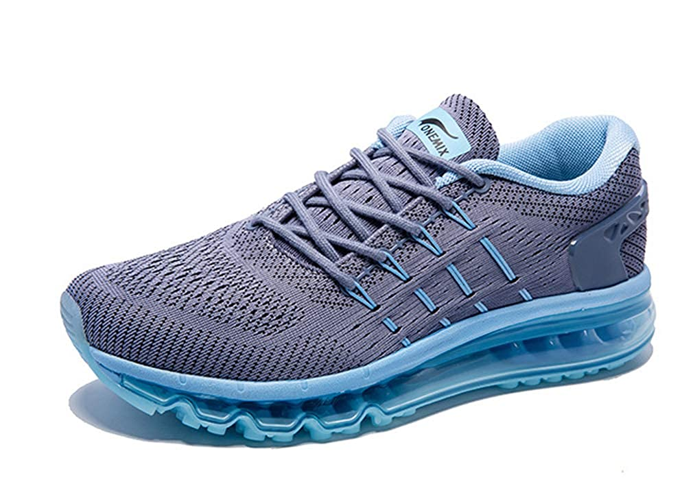Light Grey UB-ONEMIX Mens Lightweight Air Running shoes Breathable Gym Outdoor Unique Walking Sneakers