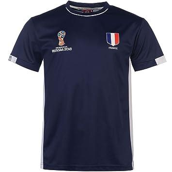 Fifa World Cup Russia 2018 FIFA Campeonato Mundial de Fútbol 2018 Oficial Francia Team Camiseta de poliéster Azul: Amazon.es: Deportes y aire libre