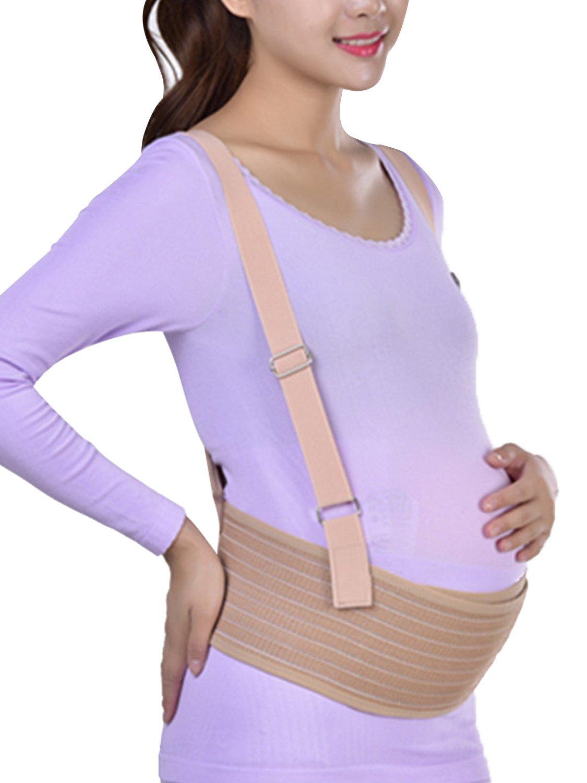 Maternity Belt, Belly Band for Pregnancy, Lower Back Maternity Support with Detachable Shoulder Straps, Breathable Abdominal Binder, Women Postnatal Belly Band Prenatal Cradle