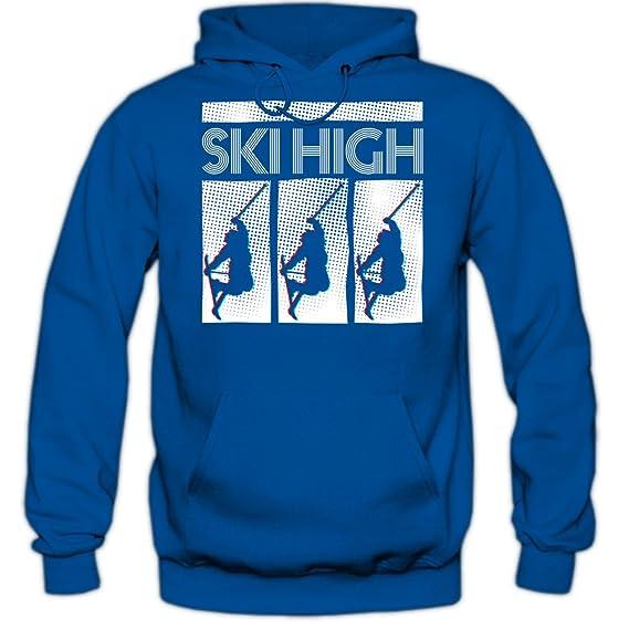 Shirt Happenz Ski-High Sudadera con Capucha | Hombre | Deporte de Invierno | Esquí Alpino | Snowboard | Vacaciones | Hoody: Amazon.es: Ropa y accesorios