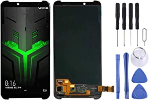 Jiangym Mobile Phone LCD Screen LCD Screen and Digitizer Full Assembly for Xiaomi Black Shark Helo 2 / Black Shark 2(Black) LCD Screen (Color : Black)