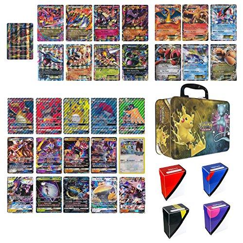 Pokemon Cards in Collectors Chest Tin 1 Full Art Mega 1 Mega Ex 3 Gx and 5 Ex ()