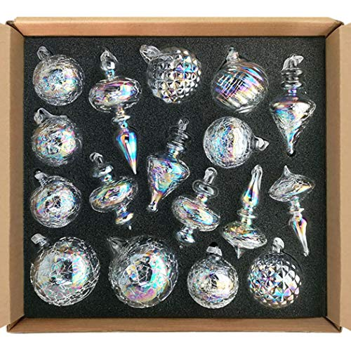 small clear glass ornaments - 9