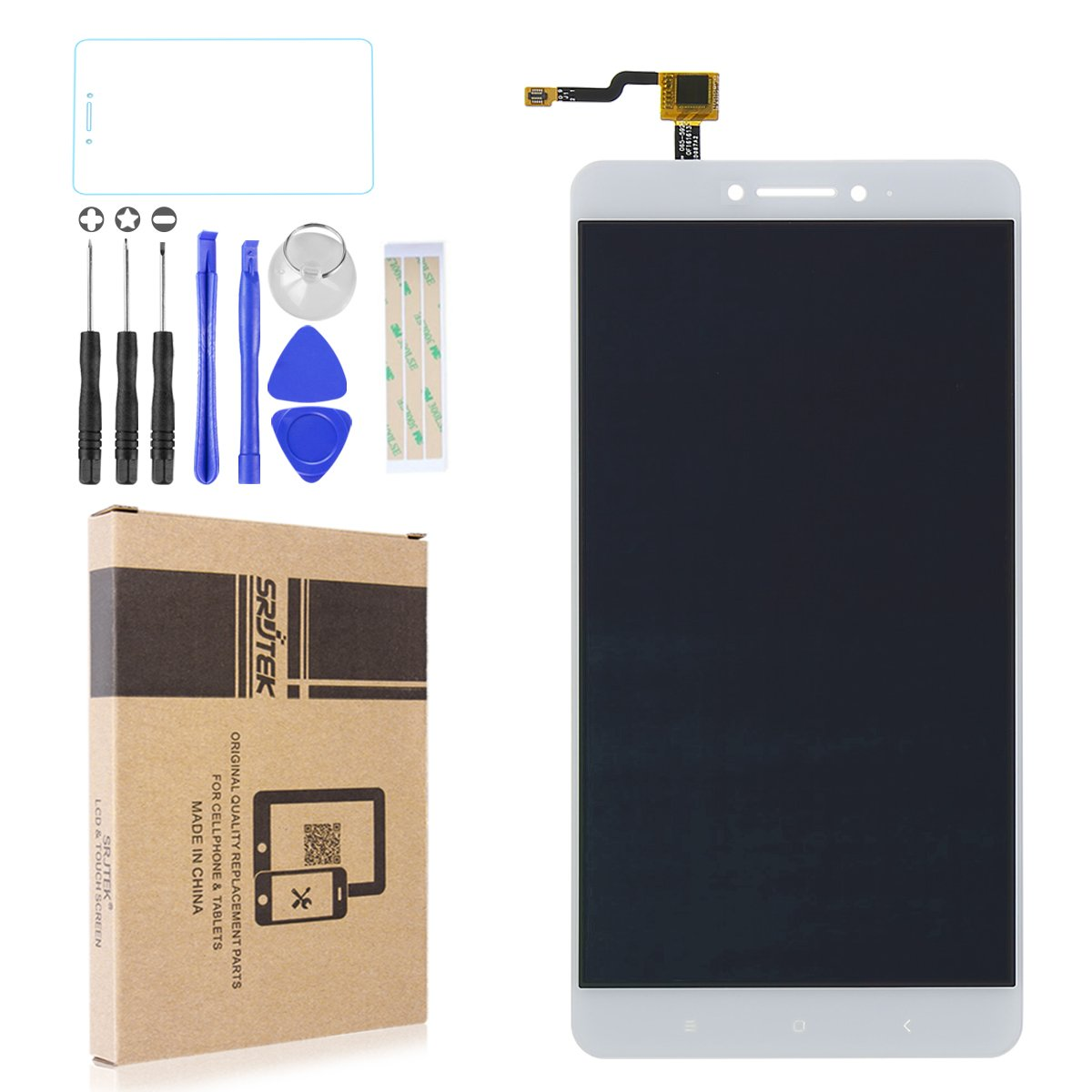 Srjtek Parts Replacement LCD Display Screen Assembly for Xiaomi Mi Max,with 6.44'' Touch Screen Digitizer for Repairing