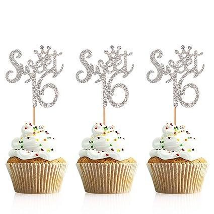 Sweet 16 Cupcake Topper