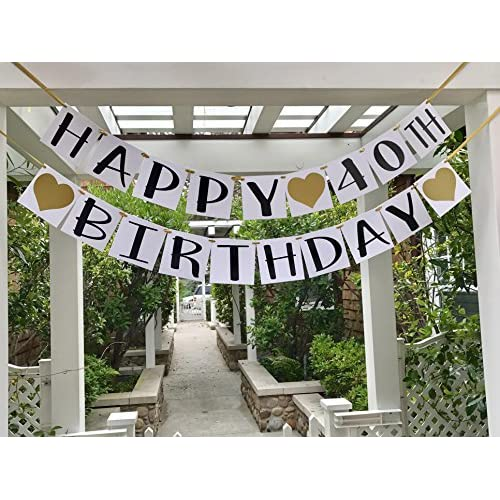 Best Happy 40th Birthday Banner