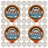 Fresh Roasted Coffee LLC, Water Decaf Coffee Pod Variety Pack, USDA Organic, Single Origin, Medium Roast, Compatible with 1.0 / 2.0 Single-Serve Brewers, 72 Count