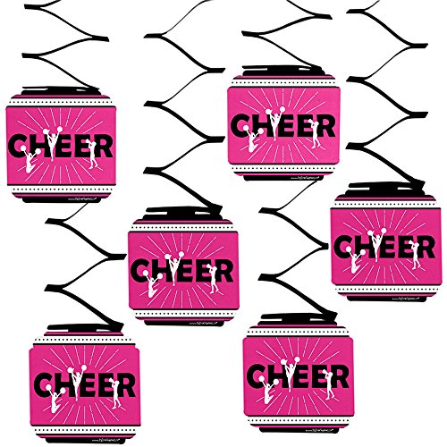Big Dot of Happiness We've Got Spirit - Cheerleading - Birthday Party or Cheerleader Party Hanging Decorations - 6 Count -