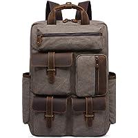Inlefen Unisex Casual Rucksack Vintage Satchel Bookbag Mountaineering Bag Men