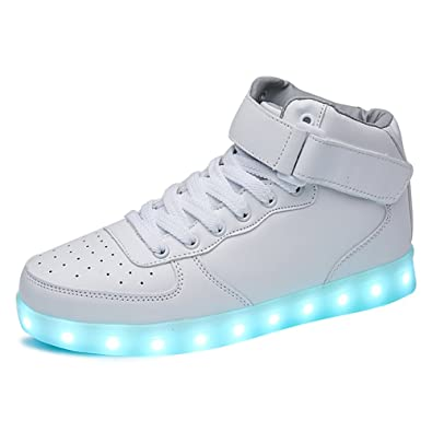 ac408521fd SANYES USB Charging Light Up Shoes Sports LED Shoes Dancing Sneakers  SYGB598-White-35
