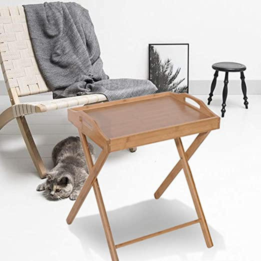 Portable Lap Desk Chair Wooden Work Table Portable TV Tray Lightweight