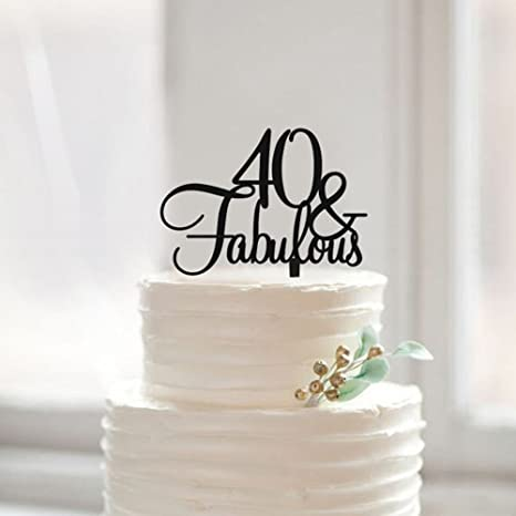 Surprising Amazon Com A Parts 40 Fabulous Birthday Cake Topper 40Th Funny Birthday Cards Online Inifodamsfinfo
