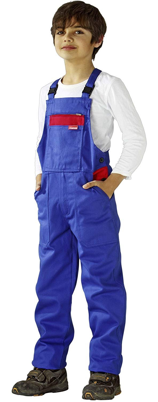 0164 Planam Kinderlatzhose kornblau/rot