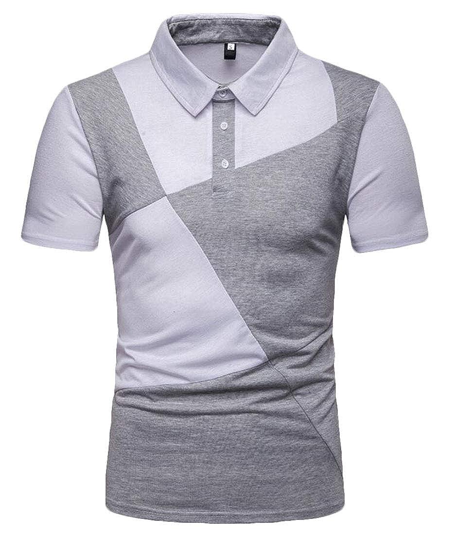 Generic Mens Casual Short Summer Slim Fit Basic Tops Blouses Shirt Polo T-Shirts
