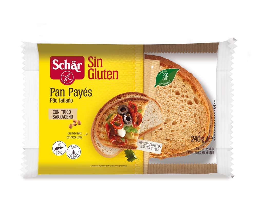 Dr. Schar - Pan payés de trigo sarraceno SIN GLUTEN - 240 gr ...