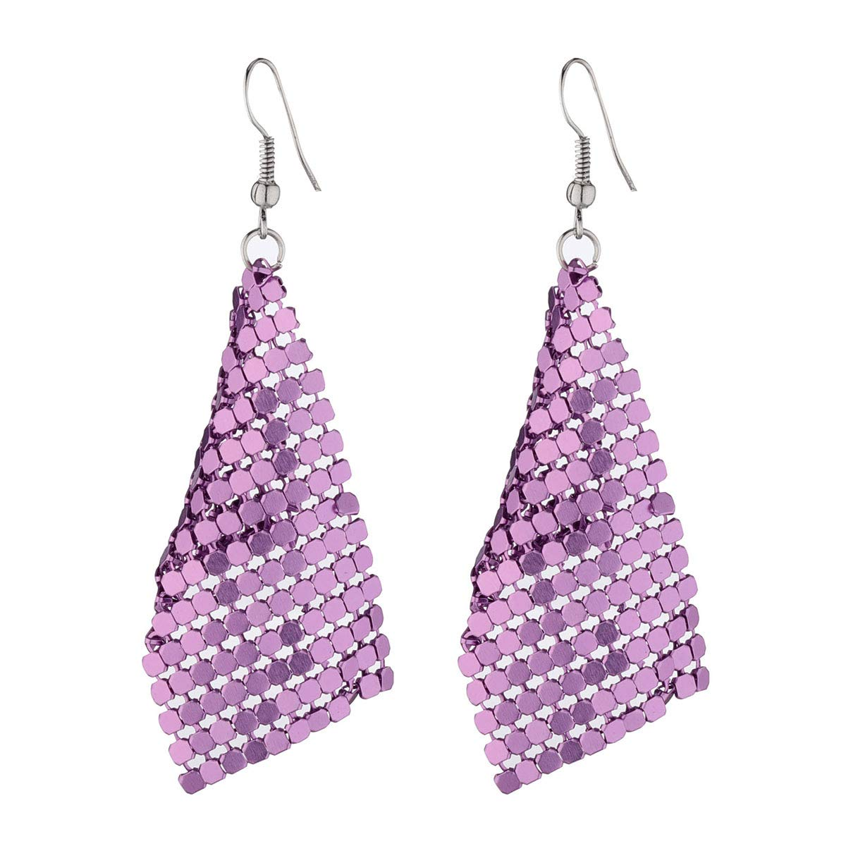 Eigso Drop Earrings Set for Women Girls Acrylic Geometric Stud Tassel Sequins Simple Classical