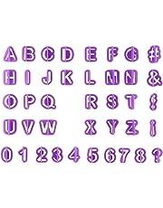 Ogquaton Números de cortadores Alfabeto Conjunto de cortadores Cortador de plástico Gateau Mazapán Fondant para decoración