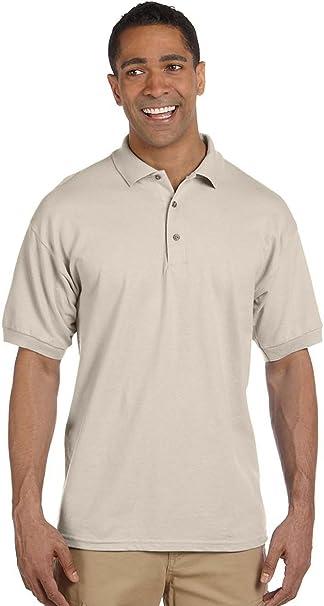Gildan – Camiseta de algodón piqué Polo Beige Arena XXX-Large ...