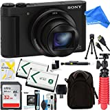Sony Cyber-shot HX80 Compact Digital Camera with 30x Optical Zoom (Black) + 32GB SDHC Memory Dual Battery Kit + DigitalAndMore Accessory Bundle