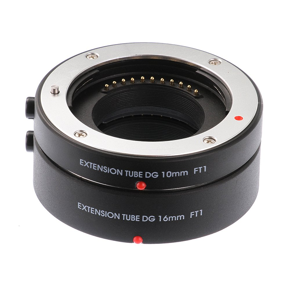 Ruili Metal Auto Focus Macro Extension Tubes Micro 4/3 10mm 16mm Set DG for Micro Four Third Panasonic GH3 GH4 GH5 GH5s Olympus E-PL5/6/7/8/9 System Camera by Ruili