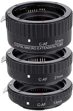 Yoidesu Macro Lens Extension Tube Set for Canon DSLR,13//21 31mm Macro Extension Tube Set for Extreme Close-up,Auto Focus Macro Lens Extension Tube Set
