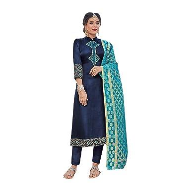 Recto Kameez Salwar Shalwar Traje Mujeres Indias Vestido de ...
