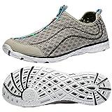 Raotes Quick Drying Aqua Water Shoes - Beach Walking Amphibious Shoes for Men Grey 45