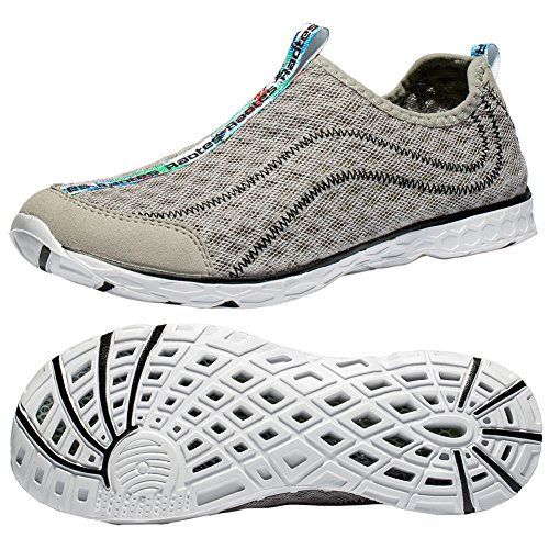 - Raotes Quick Drying Aqua Water Shoes - Amphibious Shoes Beach Walking for Women Men Grey 39