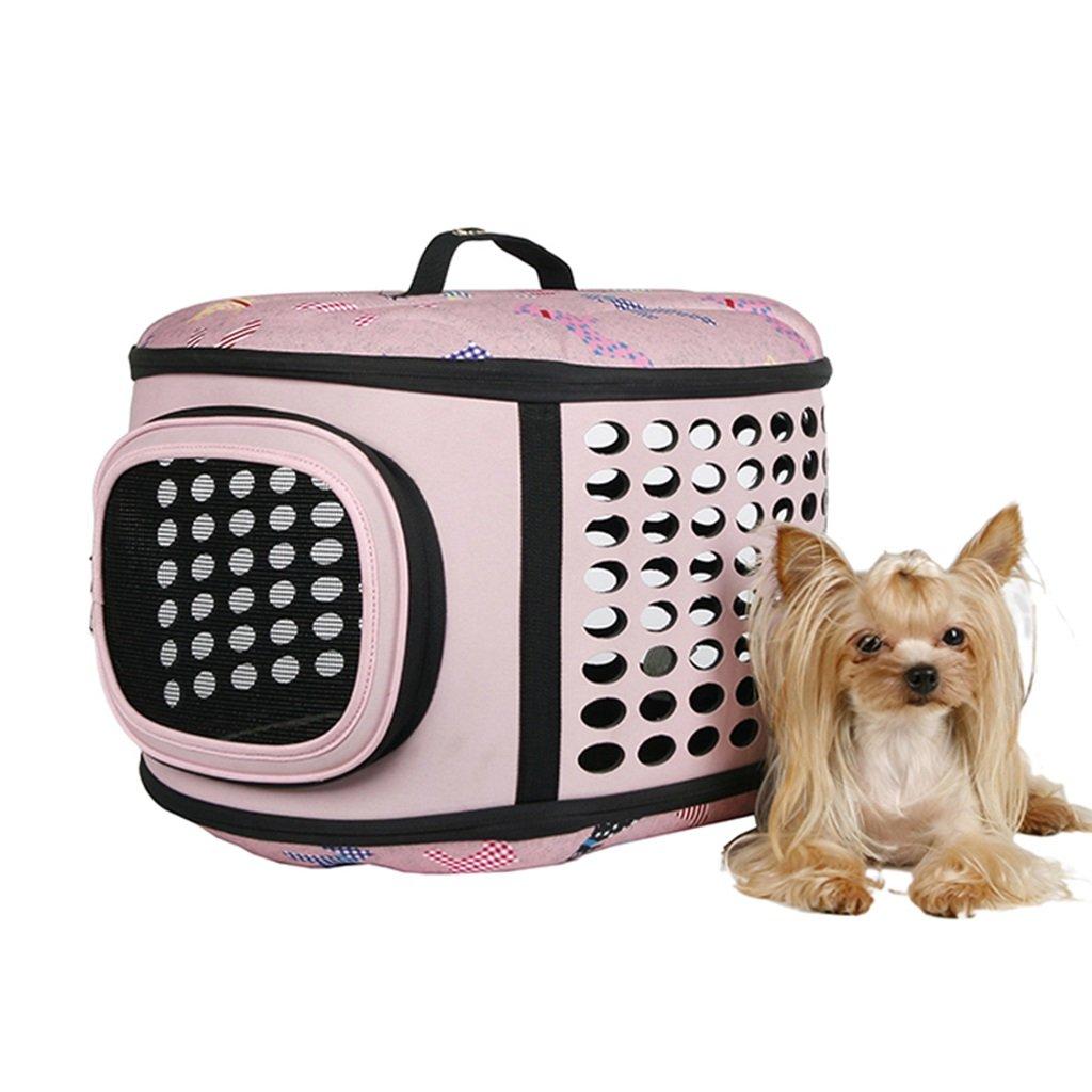 risparmia il 60% di sconto e la spedizione veloce in tutto il mondo ZXLDP Pieghevole Leggero Leggero Leggero Pet Carrier Crate Dog Cat Travel Carrier Gabbia per Esterni Pet Portatile colore Borsa A Mano Opzionale (colore   rosa)  ordina adesso