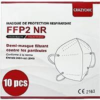 CRAZYCHIC - FFP2 Masker - CE Gecertificeerd EN149 Adembeschermingsmasker - Mondkapje Stofmasker - Hoge Filtratie 5 Lagen…