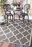 """Best Outdoor Area Rugs - nuLOOM Outdoor Geometric Moroccan Trellis Rug, Gray, 5'3""""x7'6"""" Review"""