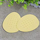 USHOT 1Pair Sole High Heel Foot Cushions Soft Breathable Anti-Slip Emulsion Insole Beige One Size
