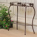 Santa Fe Iron Plant Stand in Bronze For Sale
