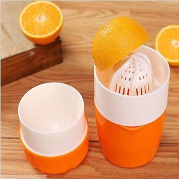 Compra SIMBA Licuadora Manual Naranja Prensa Mano Prensa Limón Exprimidor plástico portátil para Naranjas (Naranja) en Amazon.es