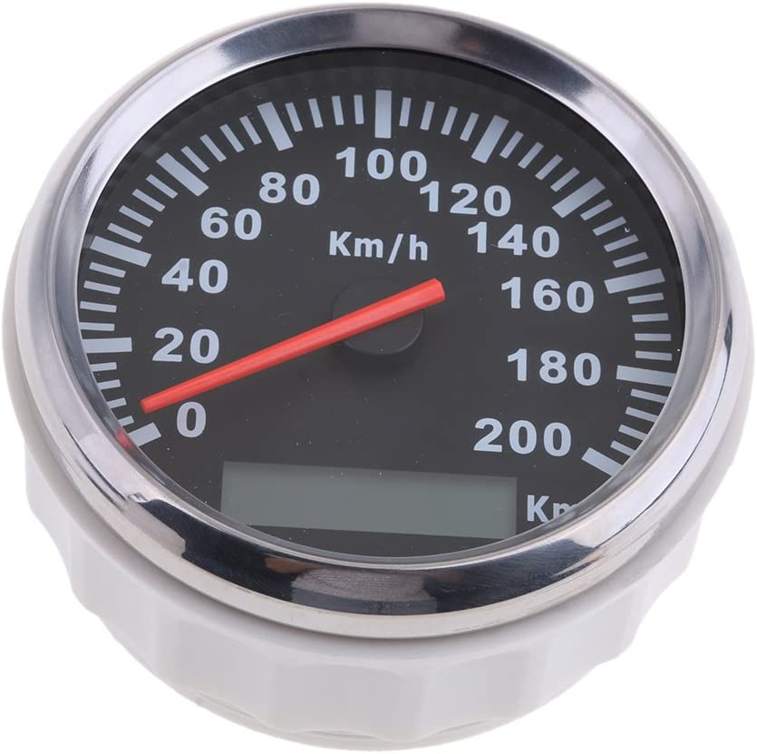 B Blesiya Veloc/ímetro Speedo Grado Protecci/ón IP67 Kit Indicador Veloc/ímetro de GPS