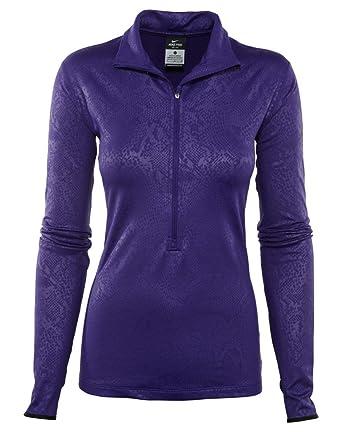 443c595dab3 Nike Pro Hyperwarm Embossed 1 2 Zip Pullover Top Womens Style  695578-547