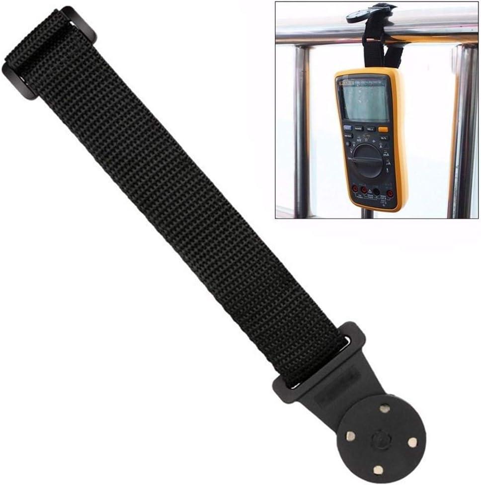 Kit para colgar multímetro con clip y percha magnética Funciona con FLUKE, HIOKI, TESTO (20.6x3.6cm)