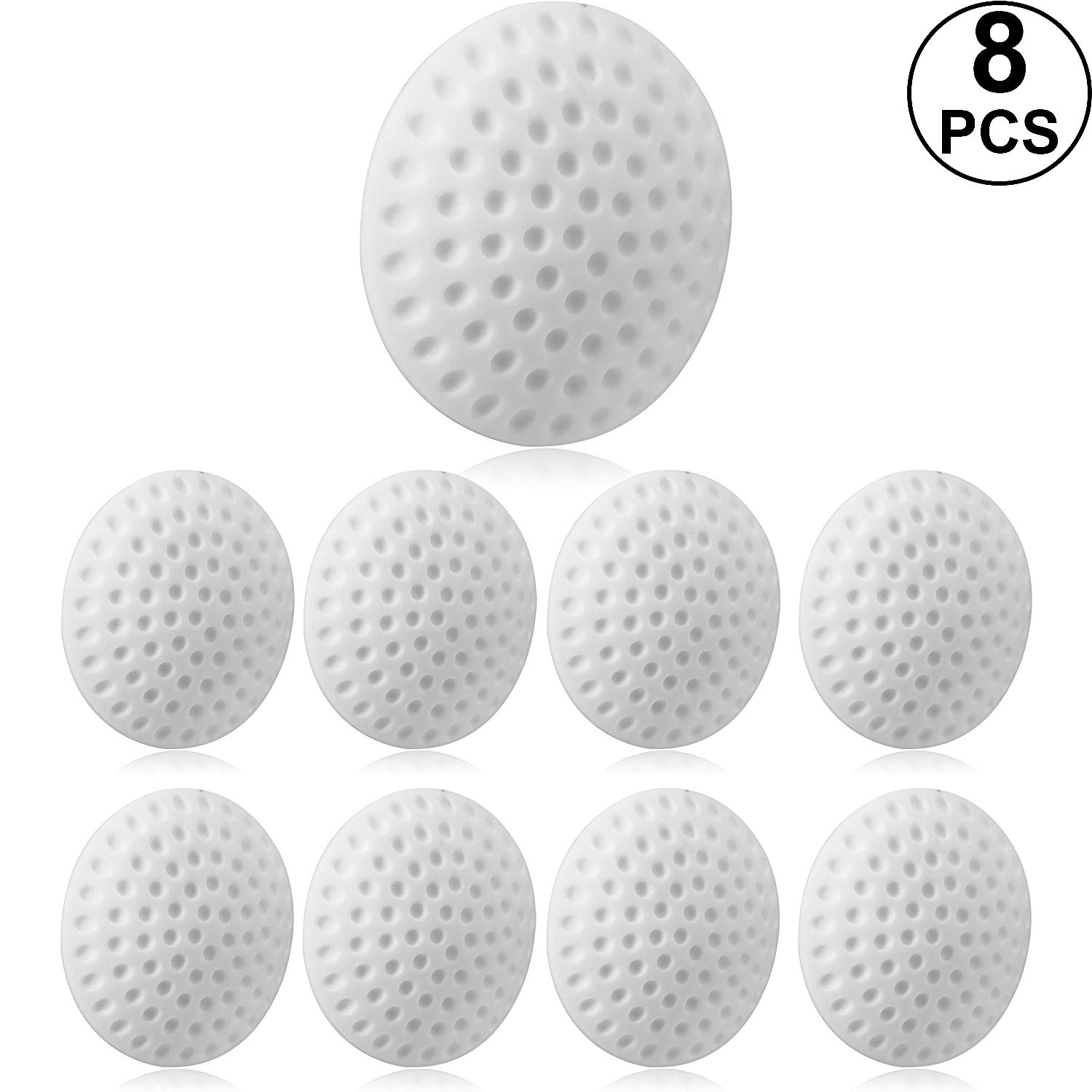 Office, White, 5.1 x 1.5 cm Door Stopper Bumper Kitchen 8 Pieces Silicone Round Wall Protector,Wall Protector Adhesive Round Door Stop Wall Protector for Bedroom Door Knob Protector Stopper