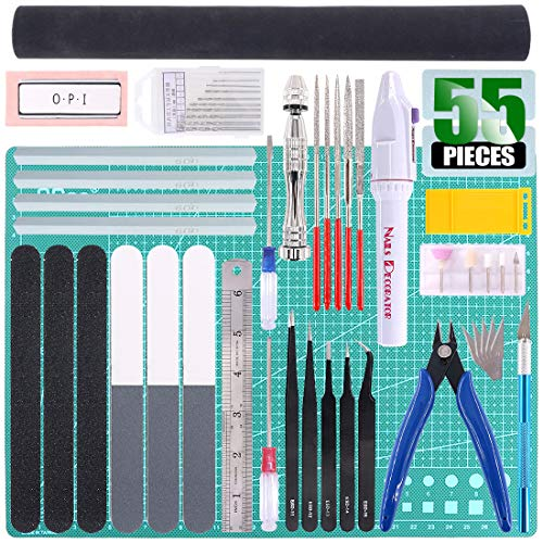- Keadic 55Pcs Professional Modeler Basic Tools Craft Set Hobby Building Tools Kit for Gundam Car Model Building Repairing and Fixing (Kit 11)