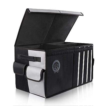 Autopre Modify Organizador Maletero Coche, Bolsa Maletero Coche con Bolsillos Laterales Compartimentos Múltiples Organizador Impermeable - Negro