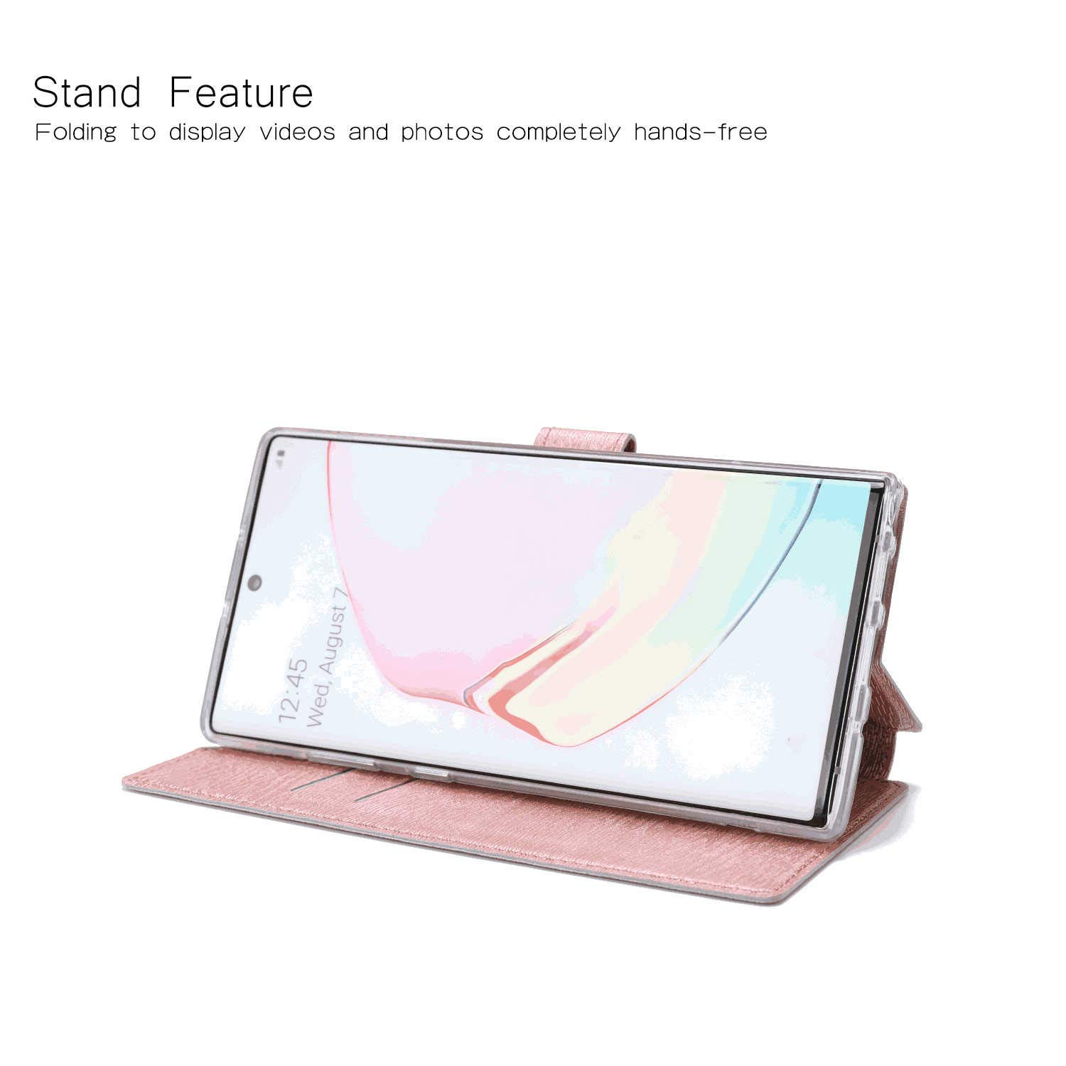 Cover for Huawei Mate 20 Leather Premium Business Kickstand Card Holders Wallet Cover with Free Waterproof-Bag White4 Huawei Mate 20 Flip Case