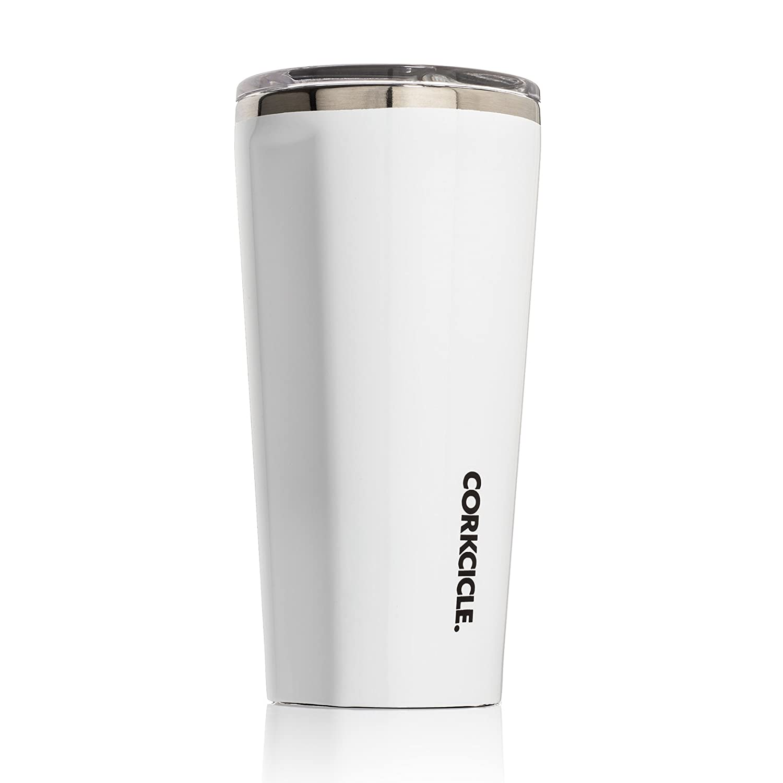 Corkcicleタンブラー断熱ステンレススチールボトル/魔法瓶 16 oz ホワイト C2116GW B01GG0CSZC 16 oz|グロスホワイト グロスホワイト 16 oz