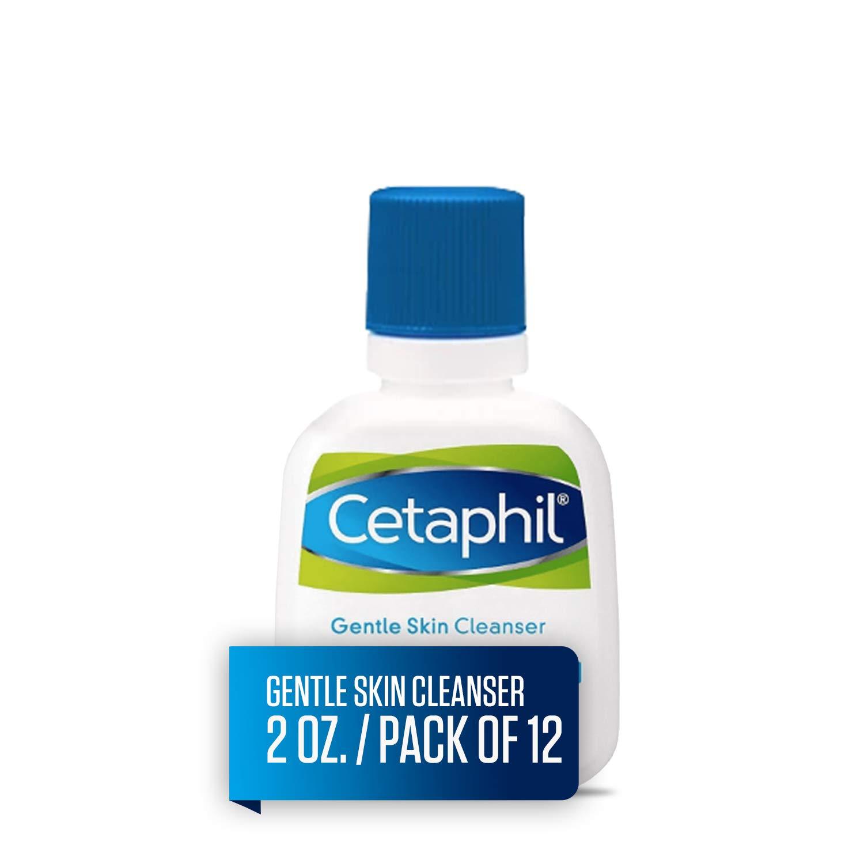 Cetaphil Gentle Skin Cleanser for All Skin Types, Face Wash for Sensitive Skin, 2-oz. Bottles (Pack of 12)