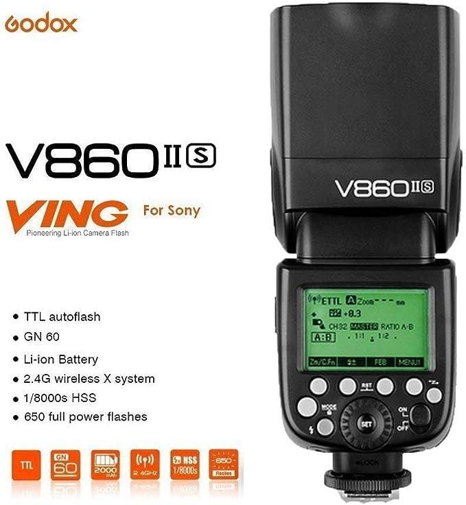 Godox Ving V860II-S 2.4G TTL Li-on Batería Cámara Flash Speedlite ...