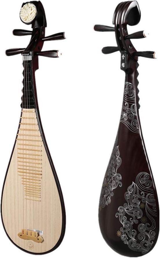 KOUPA Laúd Chino de Madera Dura, Instrumento de Cuerda Nacional Tradicional Peony Bones Carving Pipa, para Adultos y Artistas solistas: Amazon.es: Hogar