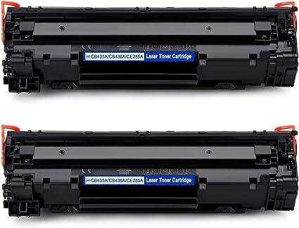 IKONG Compatible HP 85A CE285A Tóner, 2 Negro para HP LaserJet Pro ...