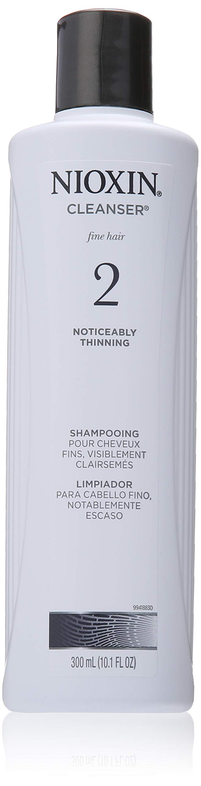Nioxin Cleanser Shampoo System 2 for Fine Hair with Progressed Thinning, 10.1 Ounce by Nioxin